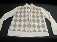SUNICE Windstopper Men's Size XL Lined Golf Sweater Argyle Broadmoor club ~10011