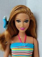 Barbie Doll Summer Redhead Fab Fashions Articulated Arms Redressed Lovely