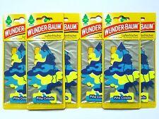 (1,50€/Einheit) 6x WUNDER-BAUM® Pina Colada Duft Lufterfrischer Autoduft Scent