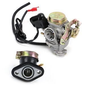 Vergaser mit E-Choke + Ansaugstutzen für REX RS 450 RS 460 50ccm Chinaroller DE