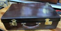 RARE LARGE NORFOLK HIDE SOLID LEATHER WEEKEND SUITCASE