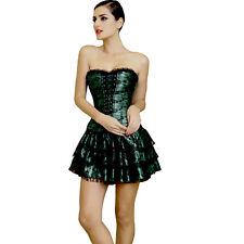 Women Corset Dress Waist Training Corsets Top Lace Bustier +tutu Skirt Black 2XL