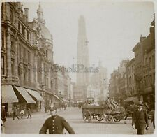 Bruxelles Belgique Photo D5 Plaque de verre Stereo Vintage ca 1925