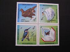 MNH BLOCK - RARE BIRDS of BELARUS - golden eagle/swan 1993 #44