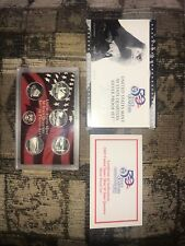 2005 U. S.  Silver Proof Set State Quarters Full Ounce Of Silver