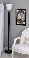 ART DÉCO MAZDA TORCHÈRE 30er Années Lampe français Lampadaire Abat-jour en verre