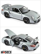 PORSCHE 911 GT2 2007 Silver - Black Wheels Norev 187594 Die Cast 1/18 Nuovo New