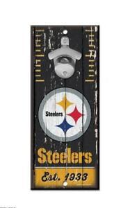 Pittsburgh Steelers Wand Apribottiglie Legno Apri NFL Calcio