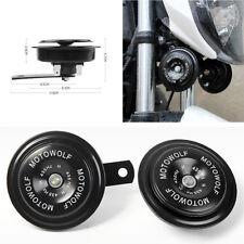 1 Pair 12V Motorcycle 435HZ 110dB Metal Loud Tone Snail Horn Speaker Waterproof