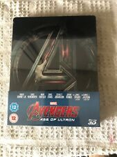 Avengers: Age of Ultron 2D & 3D Limited Edition Steelbook - New & Sealed. ZAVVI