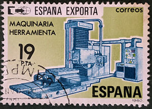 Stamp Spain SG2612 1980 19Pta Exports Industrial Machinery Used