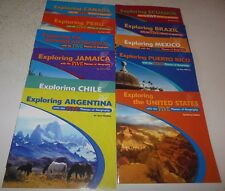 Exploring With the Five Themes of Geography Rosen Brazil Canada Peru 11 Books PB