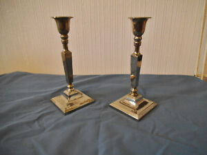 Pair Metal Candlesticks