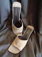 VILLAGER~Liz Claiborne~MOOD~Slides/Shoes~Tan Suede~Wmns Sz 9.5M~NWOB