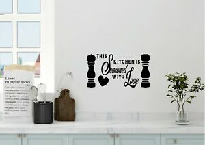 This Kitchen Is Seasoned With Love Inspired Design Wall Art Decal Vinyl Sticker