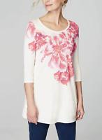 J. Jill Pure Jill Ballet Sleeve Tunic Size Small Women Floral Print Top