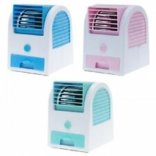 Single Mini Fan Cooling Portable Desktop Bladeless Air Cooler USB with Ice Tray
