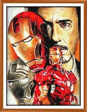 Ironman X Cross Stitch Chart 9.0 x 12.0 Inches