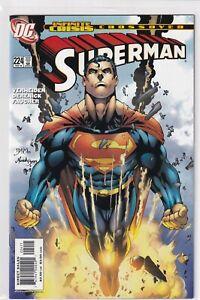 SUPERMAN #224 INFINITE CRISIS CROSSOVER DC COMICS 2006