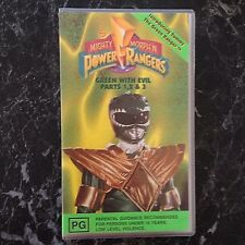 [VHS] Mighty Morphin Power Rangers Green With Evil Vol 9 Parts 1-3 Video Vintage