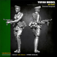 1/35 WWII German Female Soldier Resin Model Kits Unpainted YuFan