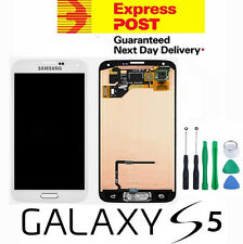 Samsung GALAXY S5 i9600 G900F/I WHITE Full LCD Screen Digitizer Glass +  Button