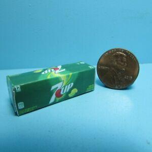 Dollhouse Miniature Replica 7up Soda Box / Case