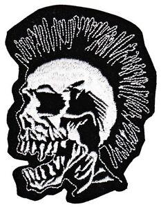 As96 Punk Calavera Parche para Planchar Aplicación Ciclista Tatuaje Bricolaje