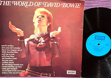 DAVID BOWIE - LP  DECCA - THE WORLD OF DAVID BOWIE -  UK EDITION 1973