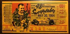 1964 Indianapolis 500 Indy 500 Motor Speedway Race Ticket Stub