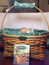 Longaberger 1995 Traditions Family Basket w fabric liner & matching handle cover
