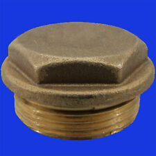 "1"" BSP Flanged Hexagonal Brass Plug.  #163"