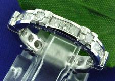 Princess Cut Ladies Eternity Natural Diamond Ring 18K Solid white gold 1.25 ct