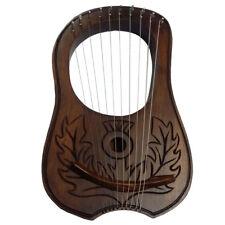 Lyre Harp Rosewood 10 Metal Strings Thistle Design/Lyra Harp/ENGRAVED HARP