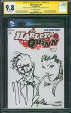 Harley Quinn 0 CGC 2XSS 9.8 Andrews Albuquerque Original art Joker sketch 1/2014