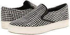 BELLE by SIGERSON MORRISON Fashion Slip On Sneakers Sz 8 Black and white