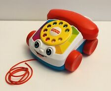 Fisher-Price Chatter Rotary Telephone Classic Vintage Style Pull Baby Toy Phone