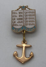 Vintage WWII JEWISH SWEETHEART Lapel Pin PATRIOTIC HOME FRONT - US NAVY