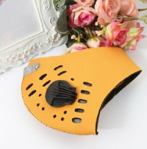 Gold Cycling & Running Face Mask 5Layer Active Carbon Filter & Breathing Valve