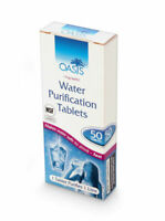 50 Water purification tablet OASIS, pastillas AQUA CLEAN TABS