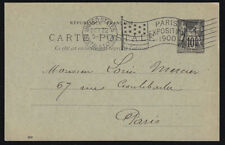 FRANCE 1900 10c POSTAL CARD FROM THE U.S. POSTAL STATION AT PARIS EXPO