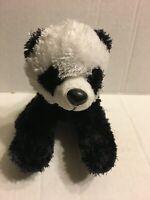"Aurora Black And White Panda Bear  8"" Plush Stuffed Animal"