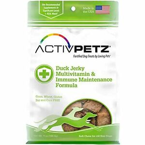 Loving Pets Activpetz Duck Jerky Multivitamin & Immune Maintenance Formula Dog