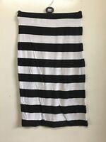 Womens Ladies Printed Pencil Bodycon Stretchy Wiggle Midi Skirt Plus Size 8-14