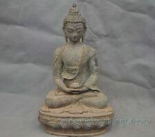 China Old Tibetan Buddhism Shakyamuni Sit Buddha Bronze Statue 20cm