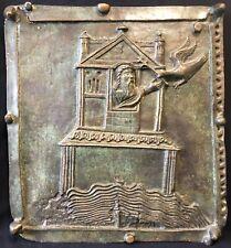 Noé et colombe Israël Bronze San Zeno Vérone Italie 48cm par 43 cm Reproduction
