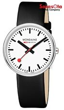 Mondaine MSX.3511B.LB SBB Mini Giant BackLight Black Leather Quartz Womens Watch
