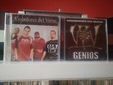 VIOLADORES DEL VERSO DOBLE V CD GENIOS + VICIOS Y VIRTUDES KASE O PRECINTADOS
