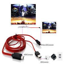 2m USB MHL a HDMI Adattatore TV HD Cavo per Samsung Galaxy Tab 3 10.1 8.0 Tablet