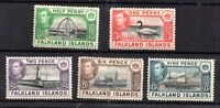Falkland Islands KGVI 1938 mint MH collection to 9d WS20787